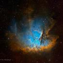 Pacman Nebula (SHO + RGB stars),                                Jian Yuan Peng