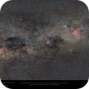 Eta Carina to The Southern Cross, and more - a very wide field shot!,                                Paul Baker