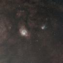 Lagoon and Trifid Nebulae,                                David Johnson