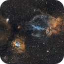 Bubble and Lobster Claw Nebula,                                Jeremy Jonkman