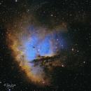 Ngc 281 Pacman Nebula - Hst Palette (2nd version),                                elvethar