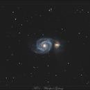 M51 - Whirpool Galaxy - Version Cropée - 7 juillet 2018,                                dsoulasphotographie