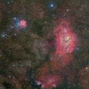The Lagoon & Trifid Nebulae Wide Field,                                Terry Hancock