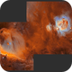 from Ic434 to M42 a two panel mosaic in SHO,                                  Mario Zauner