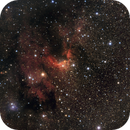 SH2-155 Cave Nebula in LHa RHaVB,                                PVO