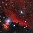 Horsehead and flame nebula region (HaRGB w/DSLR),                                  drivingcat