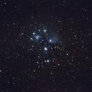 Pleiades, M45 with Sigma 70-300 DG Zoomlens,                                Lammertus de Vries