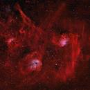 IC405 Flamming Star Nebula, IC410 Tadepole N., IC417 & NGC1931 Spider & Fly,                                Rolf Dietrich