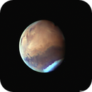 Animation: Olympus Mons and its shadow rotate out of view at the terminator,                    Niall MacNeill