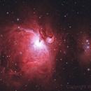 Messier 42 - M42 Orion Nebula (HaRGB - Lens + Telescope imaging),                                William Tan