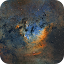 NGC7822 in HST palette,                                Sara Wager