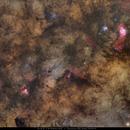 Milky Way Core, Eagle, Swan, Trifid & Lagoon Nebulae,                                Carlos 'Kiko' Fai...
