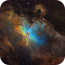 M16 Eagle Nebula (Mapped colour),                                  Bogdan Jarzyna