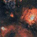 Bubble Nebula (NGC 7635) and its neighbors in HOO BiColor,                                Girish