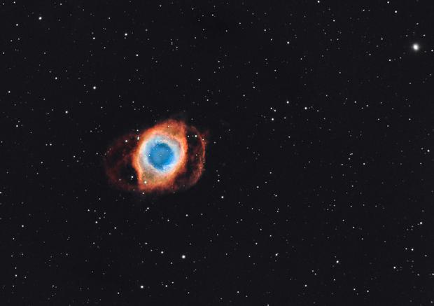 Helix Nebula, Narrowband - First light ASI1600mm-c,                                George Varouhakis