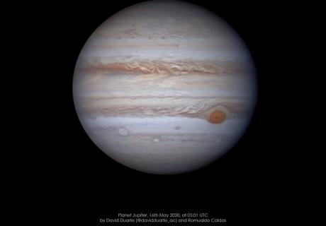 Jupiter on 16th May 2020 at 05:01 UTC,                                David Duarte