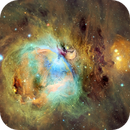 Great Orion Nebula, M42, Hubble Palette with RGB Stars,                                Eric Coles (coles44)