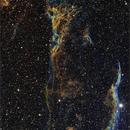 Veil nebula ( vertical frame)  narrow band  SII/Ha/OIII,                                Roland Oeyen