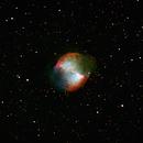 M27 Dumbbell Nebula : spectrum (Ha,OIII,Hb + RGB),                                Wanni