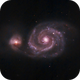 M51 @ 800mm focal length,                                urmymuse