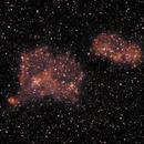 Heart and Soul Nebula - 20200129 - Neewer 85mm F2.5 - UHC,                                altazastro