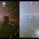 IC 434 - B33 - La Tête de Cheval en Vision Croisée (Horsehead Nebula in Cross-Eye),                                Astroluc63