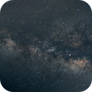 Milky Way Galaxy wide angle Canon 80D,                                James R Potts