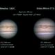 Jupiter 2020-07-11. RGB. Comparison of Mewlon 180C with Intes Micro 715 DeLuxe,                                Pedro Garcia