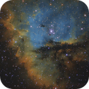 Pacman Nebula (Imitation of Hubble Palette by Red, H-Alpha, and Blue),                                Toshiya Arai