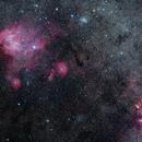 IC 2944 Running Chicken Nebula and surroundings,                                Hojong Lin