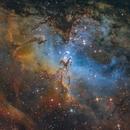 M 16, Eagle nebula and The Pillars of Creation,                                Fatalik