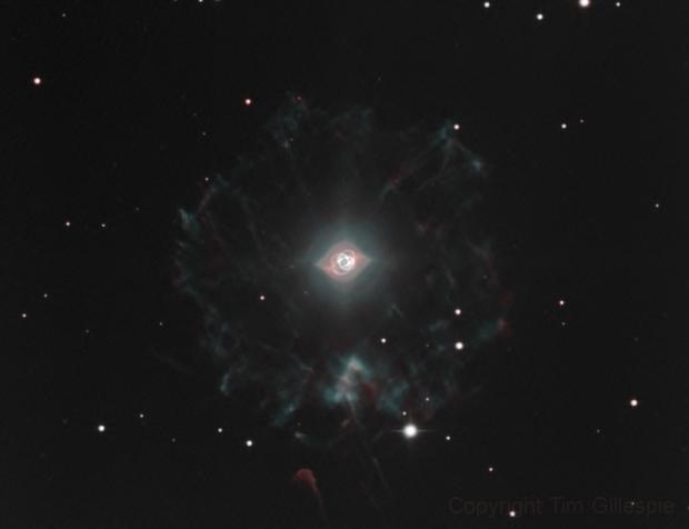 NGC 6543 Cat's Eye Nebula in HOO,                    Tim Gillespie
