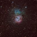 M20 - Trifid Nebula,                                Trace