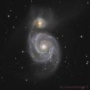 M51 Ha+L-RGB widefield,                                seasonzhang813