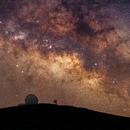 William Herschel Telescope and the Milky Way,                    Peter Shah