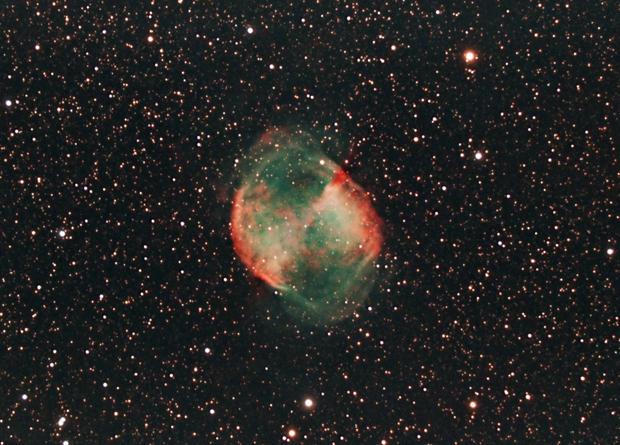 Dumbbell Nebula, cropped,                                Bob Stevenson