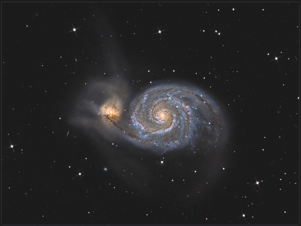 M 51- High resolution and deep field with Newton 350,                                Jeffbax Velocicaptor