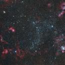 NGC series in LMC, 2 panel mosaic: stars and nebulae smorgasbord,                                S. Stirling