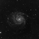 M101 L-Filter under heavy light Pollution,                                Elboubou