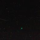 Comet Lovejoy (C/2014 Q2) 9/1/2015 plus two satellite trails,                                Die Launische Diva