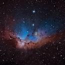 Wizard Nebula in narrowband,                                Mike