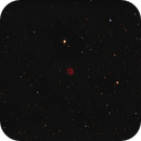 Abell 13 (PK 204.0-08.5) in Orion and a iridium flare,                                equinoxx
