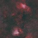 Eagle & Omega Nebula (Mouse Over: with analog camera (1990, Alps-Italy)),                                gigiastro