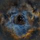 Rosette Narrowband Hubble palette,                                Girish