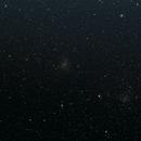 galaxia fuegos artificiales y cumulo zarza,                                adrian-HG