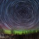 Aurora and Star Trails, Kirkfield,                                SmackAstro