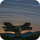Star trails around the Monument to the Revolution of the People of Moslavina,                                Ivan Bosnar