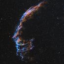 NGC 6995 (Easten Veil Nebula) Narrow Band HSO,                                Trevor Nicholls