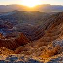 Fonts Point Sunset Version 2 - 2 panel mosaic - Anza Borrego Desert State Park,                                Jim Matzger