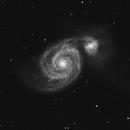 M51 - The Whirlpool Galaxy - Luminescence Data,                                NewfieStargazer